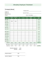 Contact Spreadsheet Template 40 Free Timesheet Time Card Templates Template Lab