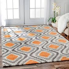 Modern Area Rugs Cheap Gray And Orange Area Rug Bedroom Gregorsnell Burned Orange And