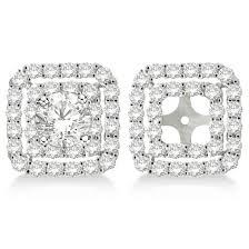 earring jackets for studs 122 best earring jackets images on diamond earrings