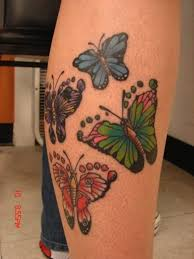butterfly tattoo with baby footprint colorful butterfly footprint tattoos tattoomodels tattoo need