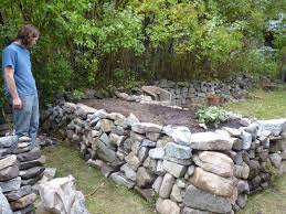 building a rock garden concrete raised bed wall garden raised rock