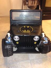 barbie jeep 2000 i turned my daughters old pink barbie jeep into my sons batman