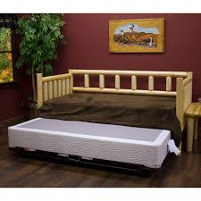 north woods pine log daybed by viking industries pine log daybed