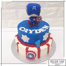 captain america cakes captain america cake singapore boys cakes sg river ash