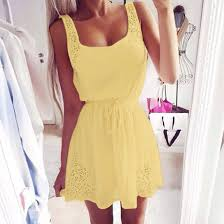 popular yellow cocktail dresses for women buy cheap yellow