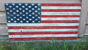 American Flag Home Decor Distressed Wood American Flag Creative Green Distressed Wood