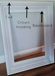 Picture Frame Wall by Build A Custom Frame Out Of Trim Pieces Craft Woodworking And