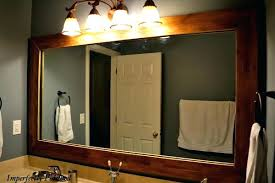 cherry wood bathroom mirror cherry wood framed mirrors rectangle mirror features a solid