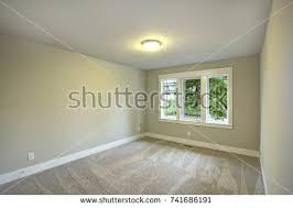 bright empty room one window beige stock photo 176526434