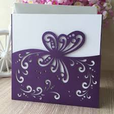 Cheap Wedding Invitations Cards Online Get Cheap Wedding Invitations Purple Aliexpress Com