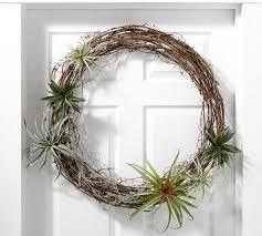 succulent wreath faux succulent wreath pottery barn