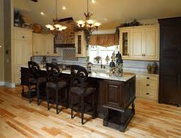 French Country Kitchen Colors by White French Country Kitchen Cabinets Sleek Black Wooden Counter