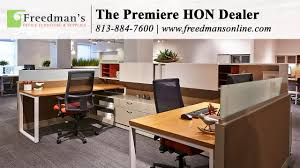 hon desks for sale hon accelerate freedman s office furniture youtube