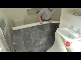 How To Lay Tile In A Bathroom Floor Diy How To Lay Vinyl Or Lino Flooring Youtube