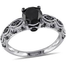black gold engagement ring asteria 1 1 4 carat t w black diamond 10kt white gold engagement