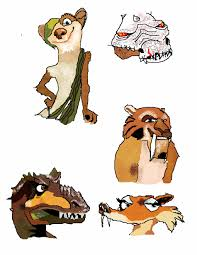 ice age 3 character heads raowolf deviantart