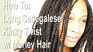 senegalese twist using marley hair how to long senegalese kinky twist w marley hair close up