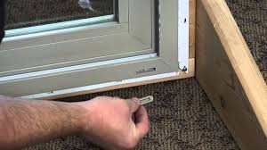 sliding glass door tracks how to replace the weep hole covers on a premium vinyl patio door