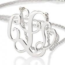 3 initial monogram necklace sterling silver 96 best monogram necklace images on monograms