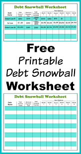 Retirement Planning Spreadsheet Free Printable Debt Snowball Worksheet Pay Down Your Debt Debt