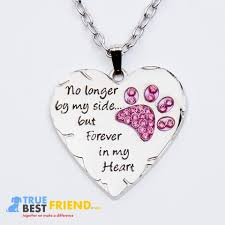 best friend heart necklace images Paw prints forever in my heart necklace jpg