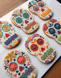 Day Of The Dead Bedding 32 Best Day Of The Dead Cookies Images On Pinterest Decorated