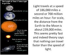 how far does light travel in one second images Light travels at a speed of 186 000 miles a second or 700 million jpg