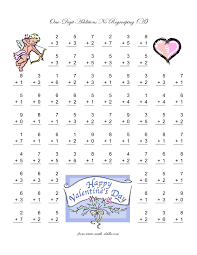 Math Worksheets For 1st Grade Addition And Subtraction Magnificent Valentine Coloring Pages Math Worksheets For Middle