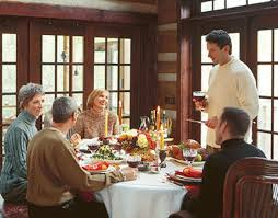 thanksgiving day family reunion and feasting wallpaper