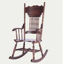 Vintage Rocking Chairs Ameircan Rocking Chair Carved Oak Wood Living Room Furniture
