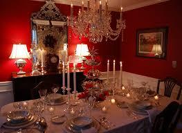 Red Dining Room Ideas Romantic Elegant Honeymoon Dinner Table Meigenn