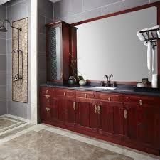 Wood Bathroom Cabinet by Op14 030 Traditional Oriental Raisin Wood Bathroom Cabinet