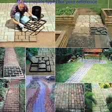 Backyard Pavers Diy Plastic Mold For Diy Garden Paver Diy Plastic Injection Concrete
