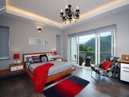 orange and grey bedroom white motive bedding brown laminated