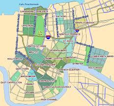orleans map neighborhood map of orleans
