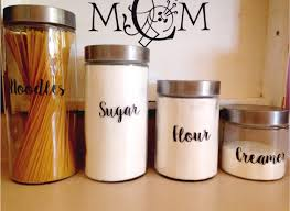 canister set decals personalized canister set kitchen canister