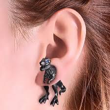 t rex earrings through your ear t rex earrings geekyget