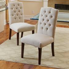 White Fabric Dining Chairs Christopher Home Crown Fabric White Dining Chairs Set