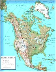 North America Physical Map Map Of Regions In Us Blank East Coast Free Images Usa The United