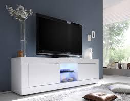 meuble tv chambre a coucher meuble tv design 2 portes avec éclairage coloris blanc agathe
