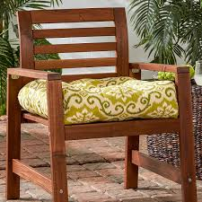 amazon com greendale home fashions indoor outdoor chair cushion
