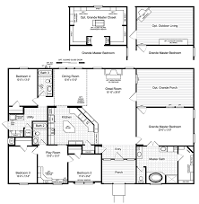Modular Home Floor Plans California by The Hacienda Ii Vr41664a Manufactured Home Floor Plan Or Modular