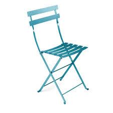 chaises fermob chaise pliante bistro bleu turquoise de fermob