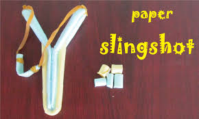 how to make a paper slingshot very simple and strong toy weapon