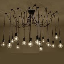 Diy Chandelier Lamp Aliexpress Com Buy Black Spider Chandelier Lamp Vintage Retro