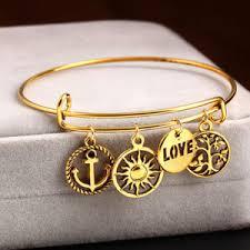 charm bracelet gold vintage images Vintage pendant charm bracelet euphorium jewelry jpg