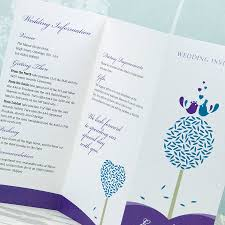 wedding program sle awesome trifold wedding program template pictures styles ideas