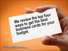 Budget Business Cards Where To Get The Best Business Cards For Your Budget