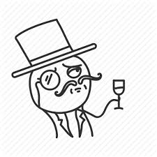 Meme Icon - funny italian like a boss meme mustache top hat wine icon