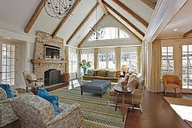 Crown Molding Vaulted Ceiling by Traditional Great Room With Wainscoting U0026 High Ceiling Zillow